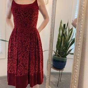 Vintage velvet cocktail dress